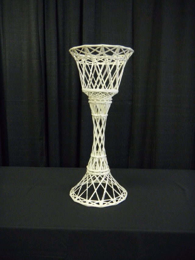 Where to find PLANT STAND 24  WHITE WICKER in Beaver Falls