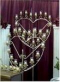 Where to rent CANDELABRA 17 LITE BRASS HEART in Beaver Falls PA